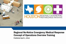 Regional No-Notice Emergency Medical Response Concept of Operations Overview