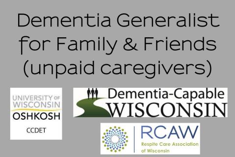 Dementia Generalist for Family & Friends (555)