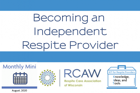 Becoming an Independent Respite Provider (403)
