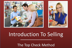 Introduction to Selling - The Top Check Way