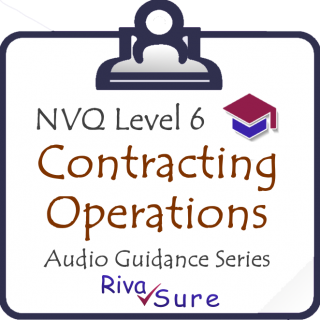 CCM16 Control Contract Work... Level 6 Guidance (Contracting) (NVQ6CCM16)