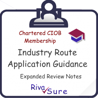 MCIOB 'INDUSTRY' Application Guidance NOTES Explained (CIOB6N)