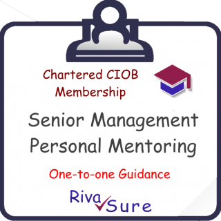 MCIOB 'PROF/NVQ7' Full Application Assistance (with Personal Mentoring) (CIOB7U)