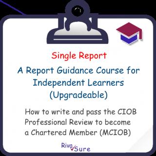 Report 1.1 / Solo / Planning & Organising work (MCIOB R01 S)
