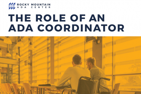 The Role of an ADA Coordinator