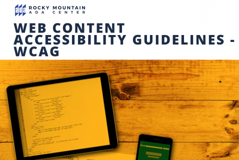 Web Content Accessibility Guidelines - WCAG