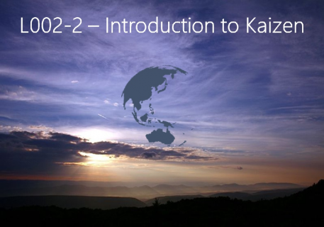 Introduction to Kaizen (L002-2)
