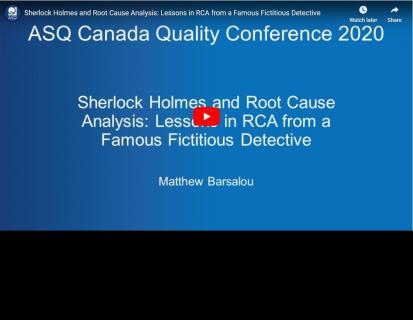 Sherlock Holmes and Root Cause Analysis (ASQ-002)