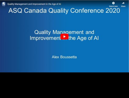 Quality Management and Improvement in the Age of AI (ASQ-003)