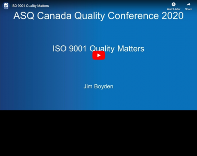 ISO 9001 Quality Matters (ASQ-004)