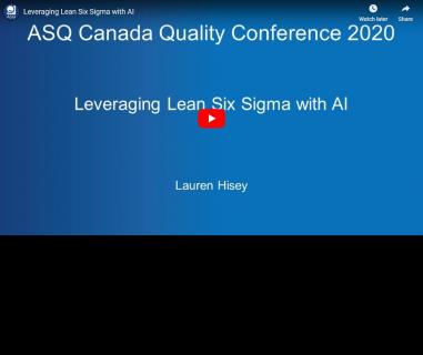 Leveraging Lean Six Sigma with AI (ASQ-006)
