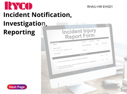 Incident Notification and Investigation (RHAU-EHS01)