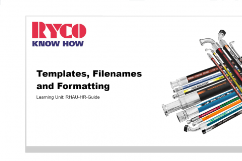 RYCO Formatting & Document Templates (RHAU-KH-S0)