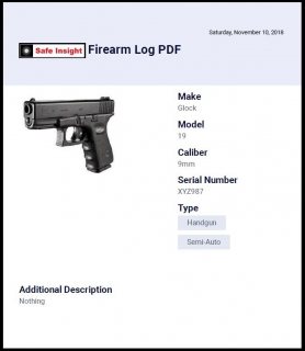 FREE Firearm Log Training