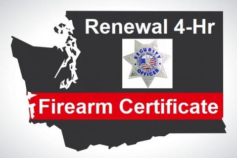 2021 WA Firearm Certificate Renewal