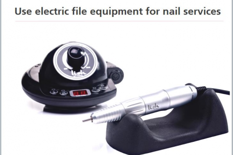 Electric Nail File for Nail Services (SPIENF007)