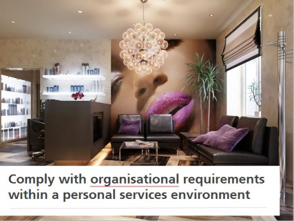 Comply with Organisational Requirements within a Personal Services Environment (SPICOR014)