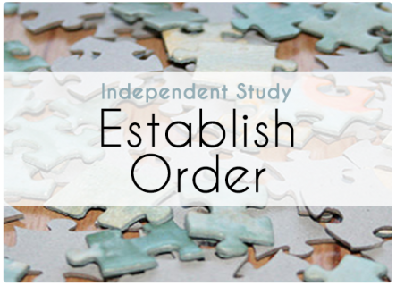 Independent Study: Establish Order (LS001IND)