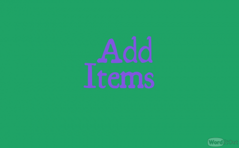 Add Items