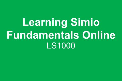 Learning Simio Fundamentals (LS1000)