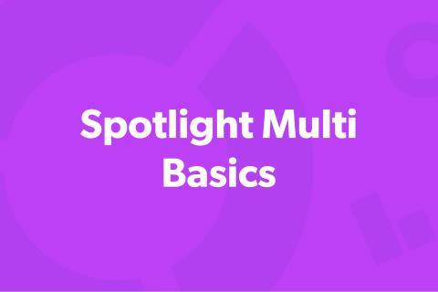 Spotlight Multi - Basics (SM-101)