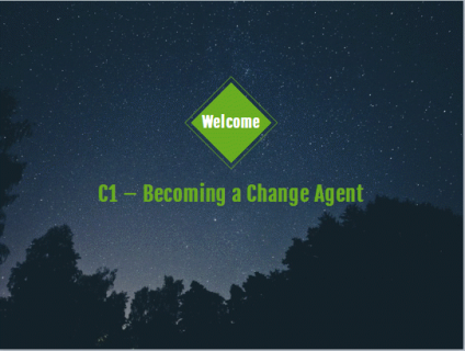 C1: Becoming a Change Agent (Try it! Course) (C100)