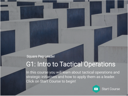 G1: Intro to Tactical Operations (Try it! Course) (G100)