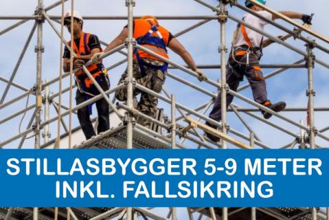 Stillasbygger 5 - 9 Meter inkl. fallsikring