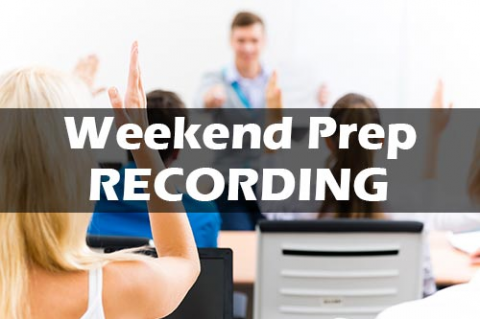 (2019) Weekend Prep Class Recording