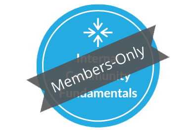 Members Only: Internal Community Management Training (2021)