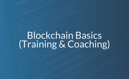 Blockchain Basics - Training and Coaching [ Feb - March 2018] (BS -001)