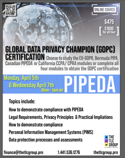 Global Data Privacy Champion- PIPEDA (GDPC3)