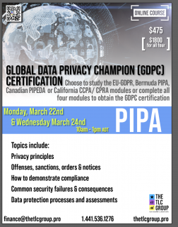 Global Data Privacy Champion- PIPA (GDPC2)