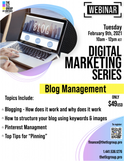 Digital Marketing Series: Blog Management (DMS1)