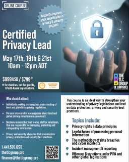 Certified Privacy Lead - For Charities, not for profit & faith-based organizations (CPL1)