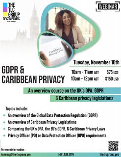 GDPR & Caribbean Privacy (GDPRC)