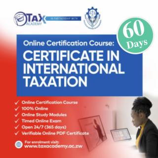 Certificate in International Taxation (CIT1001)