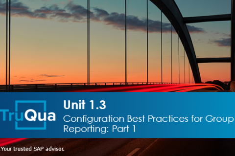 Unit 1.3: Configuration Best Practices for Group Reporting - Part 1 (GR 1.3)