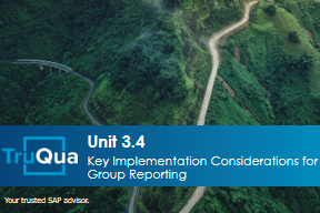 Unit 3.4: Key Implementation Considerations for Group Reporting (GR 3.4)