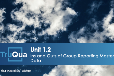 Unit 1.2: Ins and Outs of Group Reporting Master Data (GR 1.2)