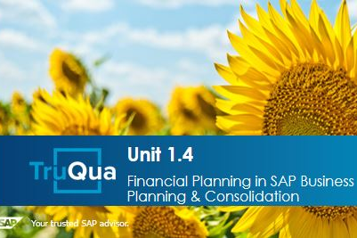Unit 1.4: Financial Planning in SAP Business Planning & Consolidation (BPC1.4)