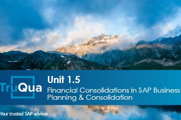 Unit 1.5: Financial Consolidations in SAP Business Planning & Consolidation (BPC1.5)