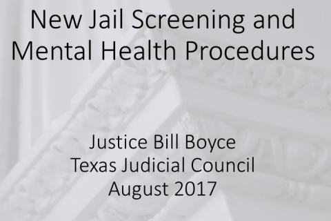 New Jail Screening and Mental Health Procedures