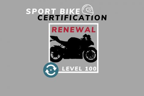 Renewal: Sport Bike Coach Level 100 USMCA Certification (SB100-renewal)