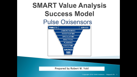 ON DEMAND - Pulse Oxisensor SMART Value Analysis Success Model (SMART1)