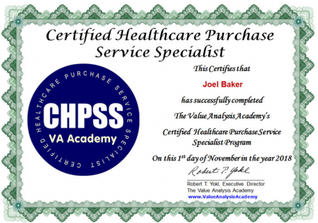 Certified Healthcare Purchase Service Specialist