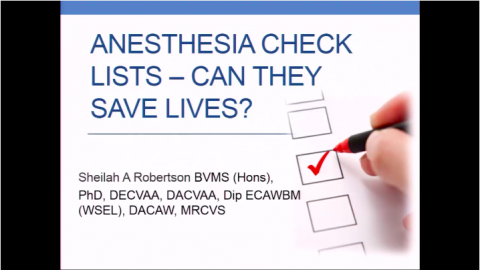 2016 Anesthesia Checklists - Can they save lives?