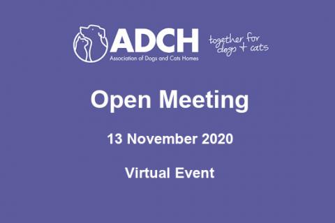 ADCH November Open Meeting