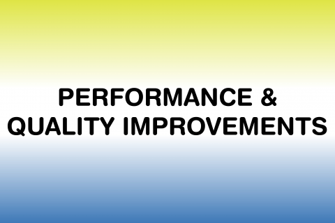 2019 Policies & Procedures - Performance & Quality Improvement (PQI)