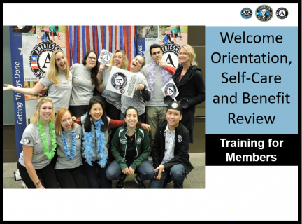 1. Welcome Orientation, Self-Care and Benefit Training